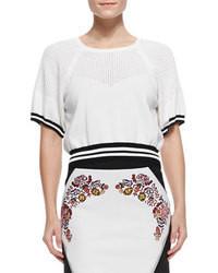 Jersey corto en blanco y negro de Rebecca Minkoff
