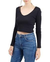 Jersey corto negro de Topshop