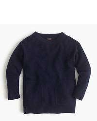 Jersey de cachemir azul marino de J.Crew