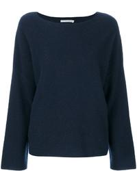 Jersey de cachemir azul marino de Vince