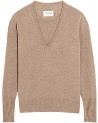 Jersey de cachemir marrón claro de Maison Margiela