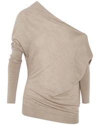 Jersey de cachemir marrón claro de Tom Ford
