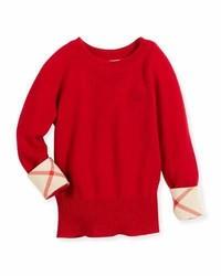 Jersey de cachemir rojo de Burberry