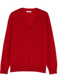 Jersey de cachemir rojo de Tomas Maier