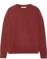 Jersey de cachemir rojo de Vince