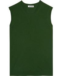 Jersey de cachemir verde oscuro de Jil Sander