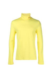 Jersey de cuello alto amarillo de Calvin Klein 205W39nyc