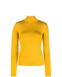 Jersey de cuello alto amarillo de Lanvin