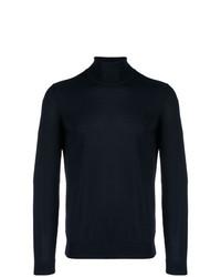 Jersey de cuello alto azul marino de BOSS HUGO BOSS