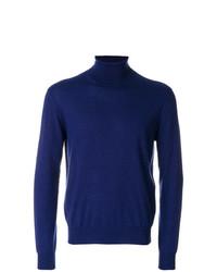 Jersey de cuello alto azul marino de Canali