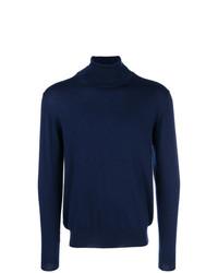 Jersey de cuello alto azul marino de Etro