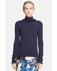 Jersey de cuello alto azul marino de Kate Spade
