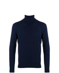 Jersey de cuello alto azul marino de Laneus