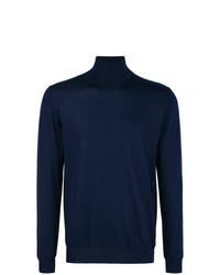 Jersey de cuello alto azul marino de Lanvin