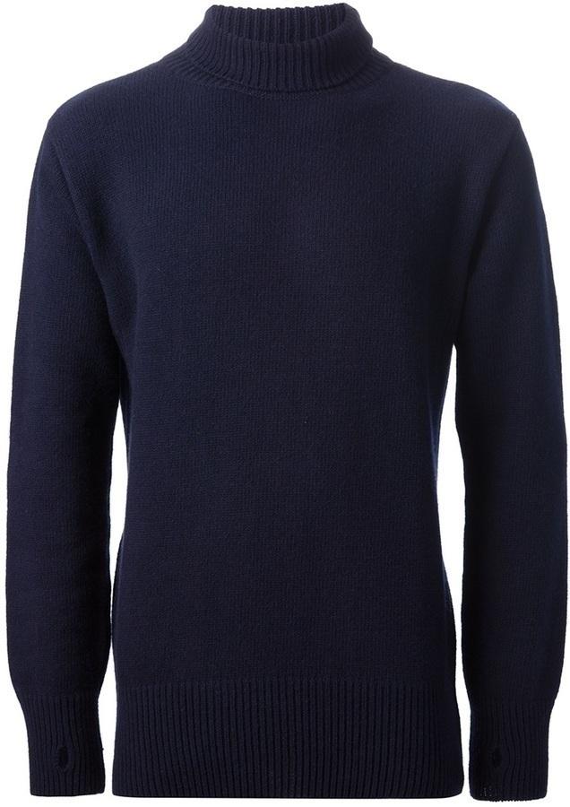 Jersey de cuello alto azul marino de Oliver Spencer