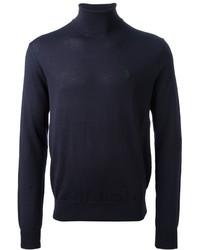 Jersey de cuello alto azul marino de Ralph Lauren