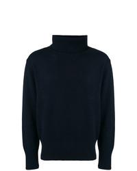 Jersey de cuello alto azul marino de Societe Anonyme