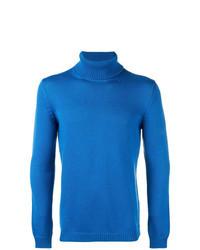 Jersey de cuello alto azul