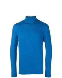 Jersey de cuello alto azul de A.P.C.