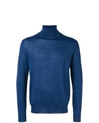 Jersey de cuello alto azul de Canali