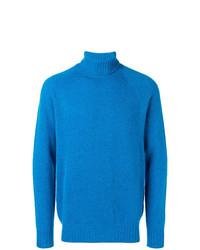Jersey de cuello alto azul de Drumohr