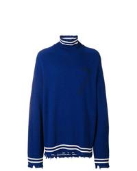Jersey de cuello alto azul de Riccardo Comi