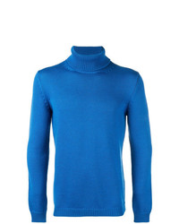 Jersey de cuello alto azul de Roberto Collina