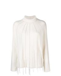 Jersey de cuello alto blanco de Fabiana Filippi