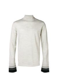 Jersey de cuello alto blanco de Lanvin