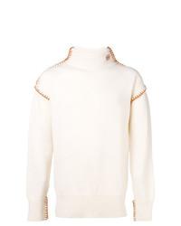 Jersey de cuello alto blanco de Loewe