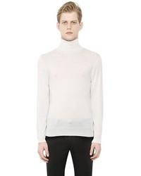 Jersey de cuello alto blanco de Neil Barrett