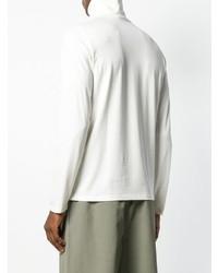 Jersey de cuello alto blanco de Jil Sander