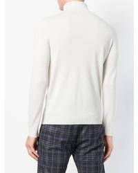 Jersey de cuello alto blanco de Dell'oglio