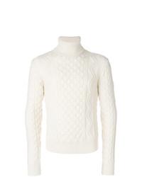 Jersey de cuello alto blanco de Saint Laurent