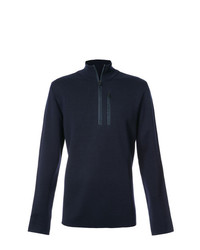 Jersey de cuello alto con cremallera azul marino de Aztech Mountain