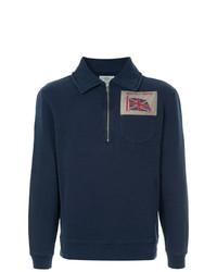 Jersey de cuello alto con cremallera azul marino de Kent & Curwen