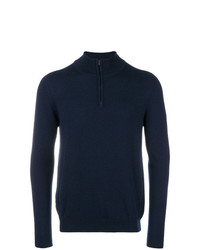 Jersey de cuello alto con cremallera azul marino de Pringle Of Scotland