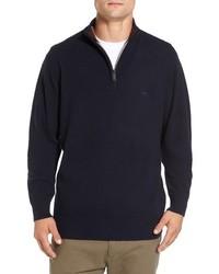 Jersey de cuello alto con cremallera azul marino de Rodd & Gunn