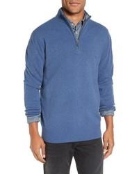 Jersey de cuello alto con cremallera azul de Rodd & Gunn