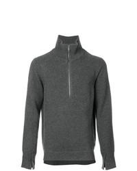 Jersey de cuello alto con cremallera en gris oscuro de Burberry