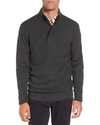 Jersey de cuello alto con cremallera en gris oscuro de Rodd & Gunn