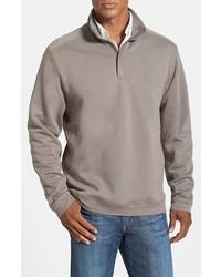 Jersey de cuello alto con cremallera gris de Cutter & Buck