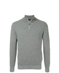 Jersey de cuello alto con cremallera gris de D'urban