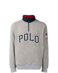 Jersey de cuello alto con cremallera gris de Polo Ralph Lauren
