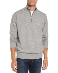 Jersey de cuello alto con cremallera gris de Rodd & Gunn