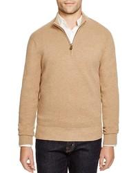 Jersey de cuello alto con cremallera marrón claro