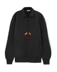 Jersey de cuello alto con cremallera negro