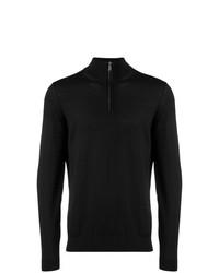 Jersey de cuello alto con cremallera negro de BOSS HUGO BOSS