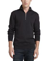 Jersey de cuello alto con cremallera negro de Burberry