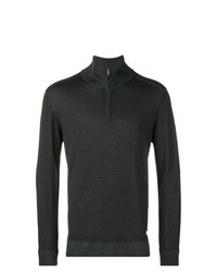 Jersey de cuello alto con cremallera negro de CP Company